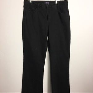 NyD Black Jeans Not Your Daughters Jeans size 14